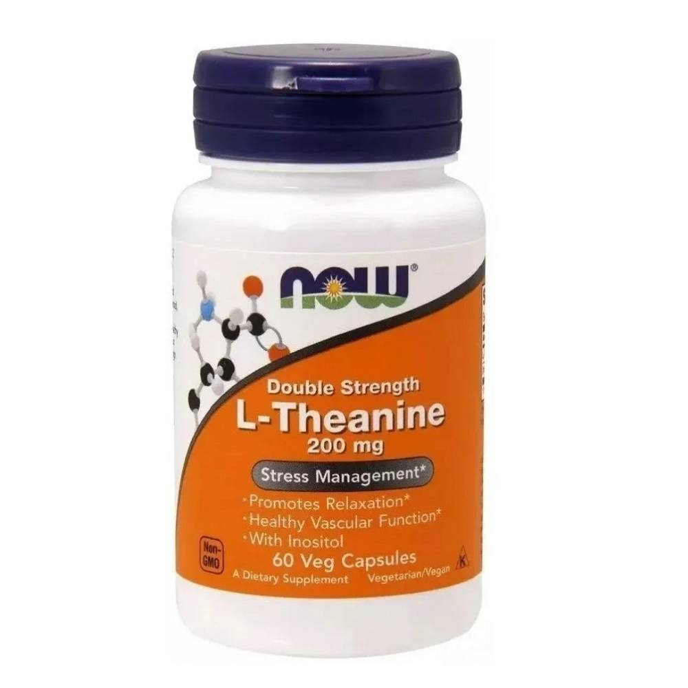 L Theanine 200 mg Now Foods 60 caps. com Inositol