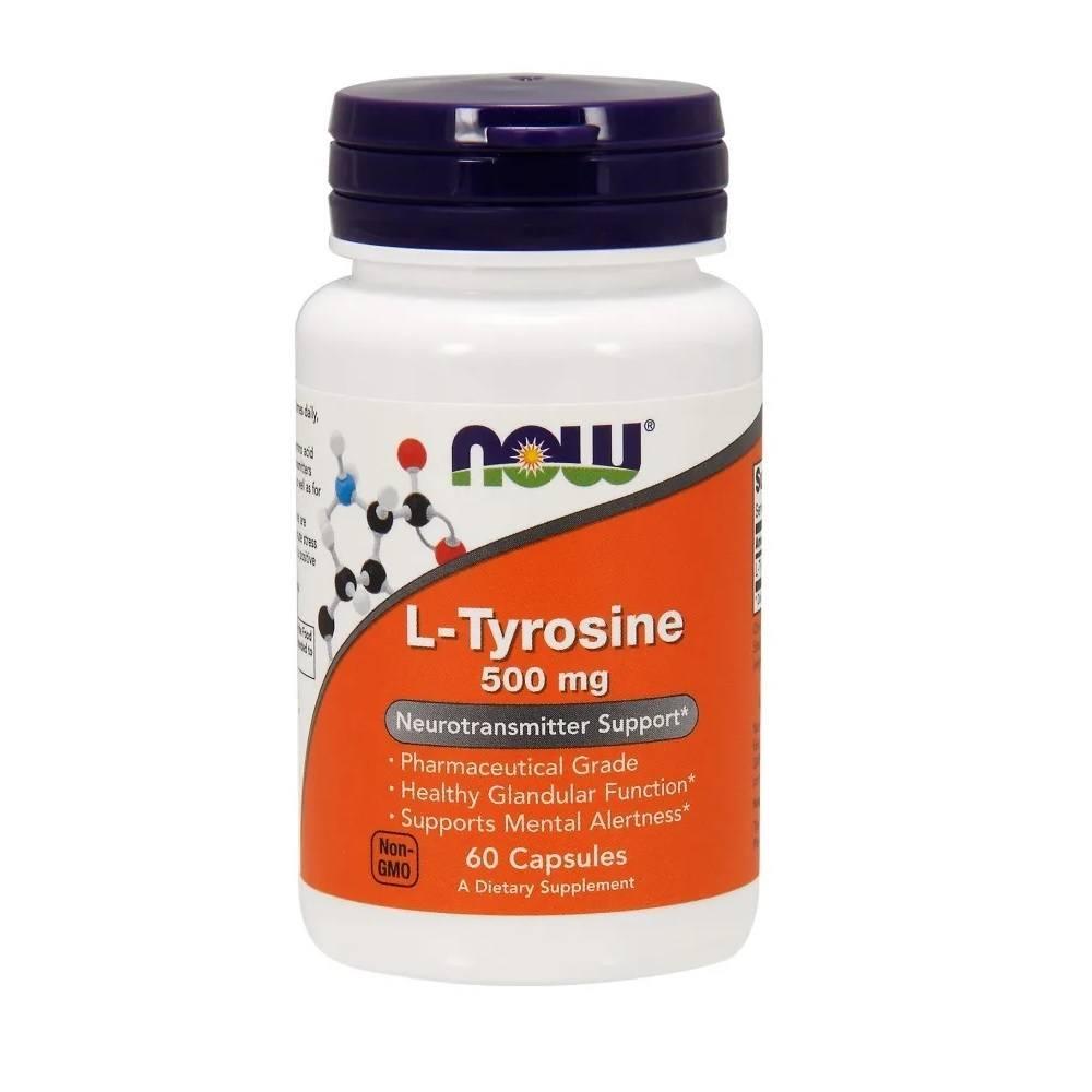 L-Tyrosine 500 mg 60 Cáps. Now Foods