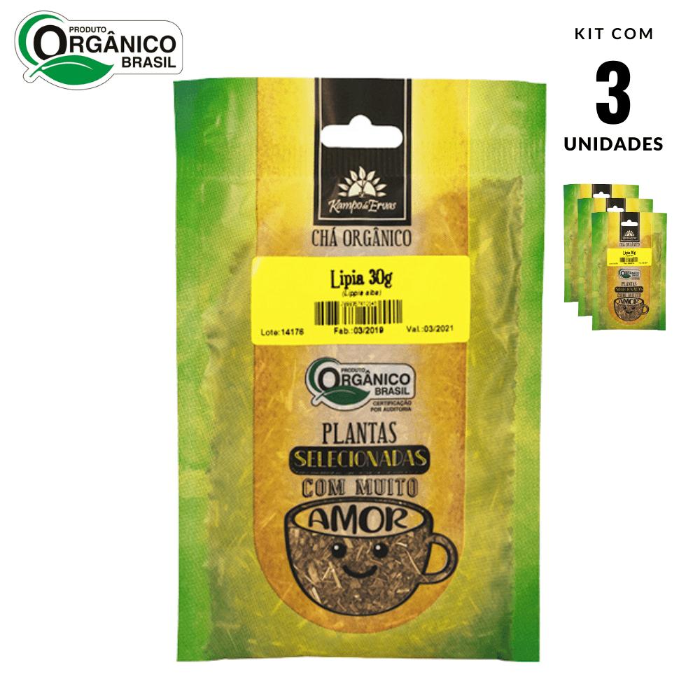 Lípia Chá Orgânico Kampo de Ervas 3 und com 30 g cada