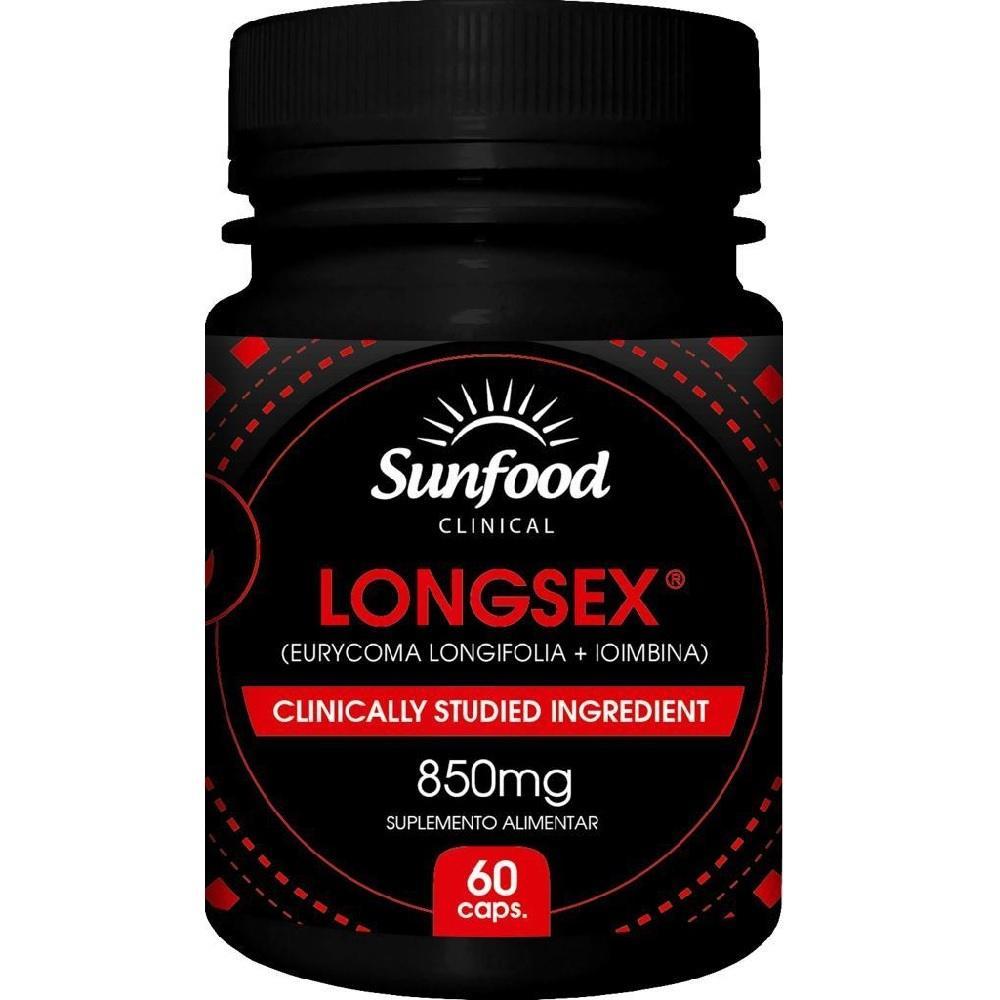 Longsex - Long Jack com Ioimbina 850 mg 60 Cáps. Sunfood