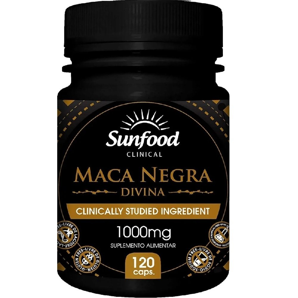Maca Negra Peruana 1000 mg 120 Cáps. Sunfood