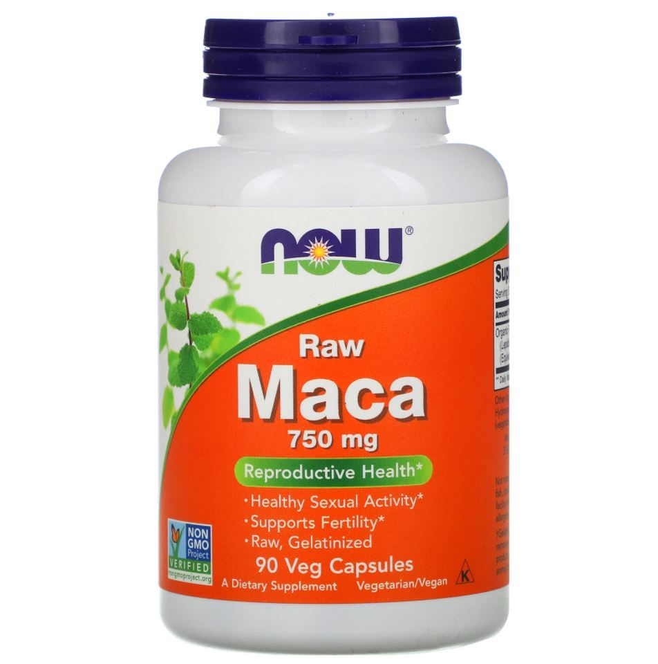 Maca Peruana 750mg Raw - Now Foods Importado Eua