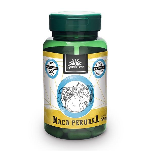 Maca Peruana Orgânica Import 500mg Kampo de Ervas 90 cáps