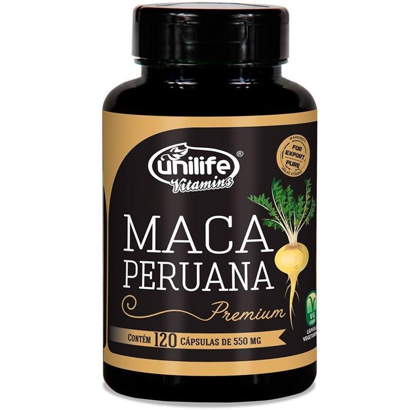 Maca Peruana Premium Pura 120 Cápsulas 550mg Unilife