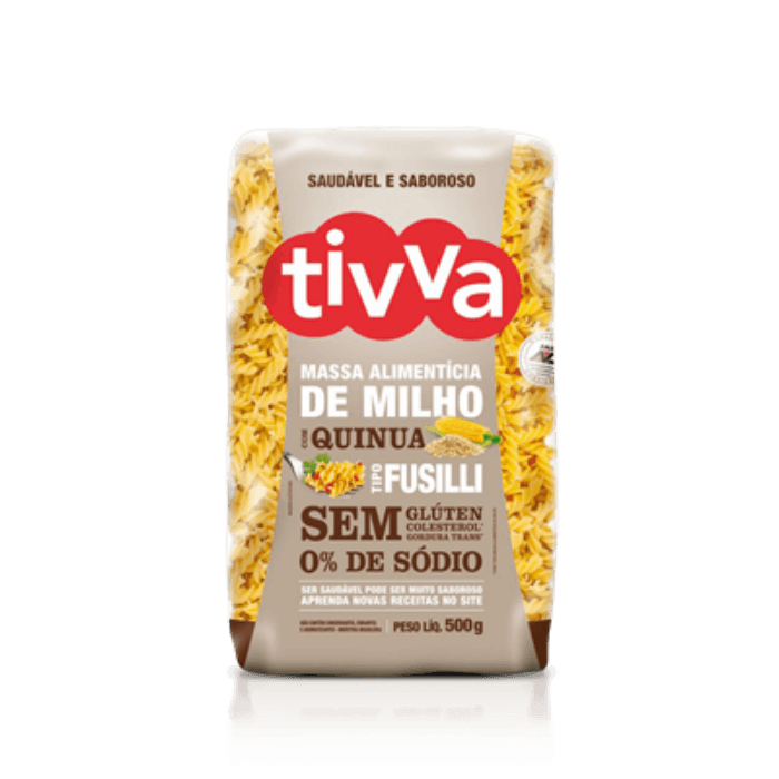 Macarrão De Milho C/ Quinoa Fusilli 500g - Tivva