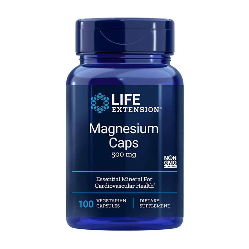 Magnésio 100 Capsulas 500mg  Life Extension Importado Concentrado saúde para o coração