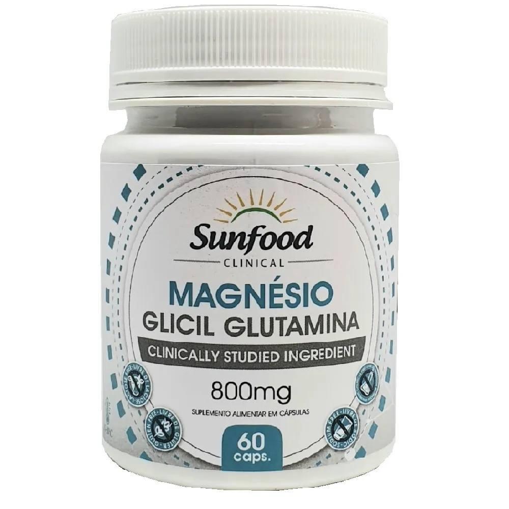 Magnésio Glicil Glutamina 60 Cáps. Sunfood