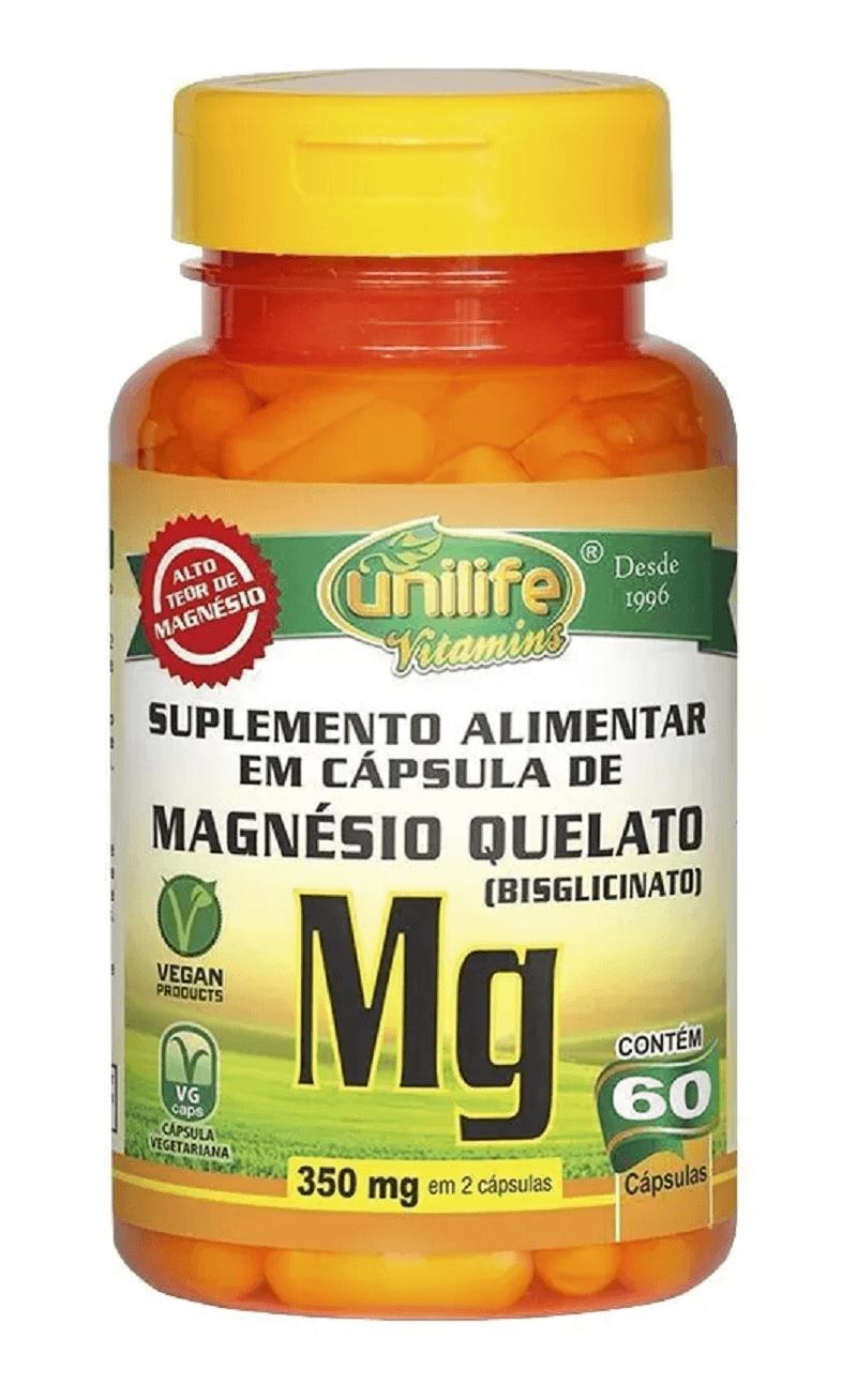 Magnésio Quelato Mg 60 Cápsulas Unilife