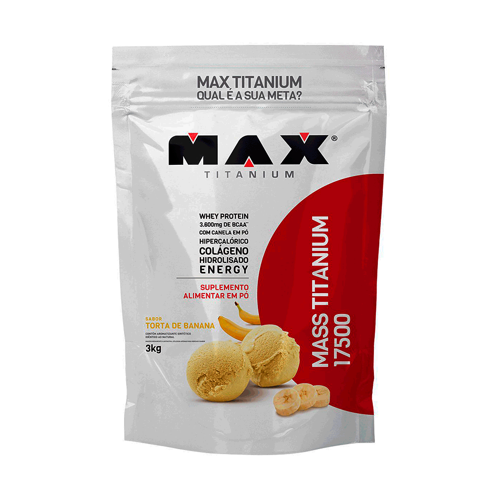 Mass Titanium 17500 3Kg Torta De Banana - Max Titanium