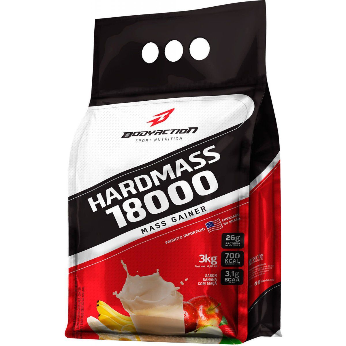 Massa Hard Mass 18000 Morango 3Kg Bodyaction