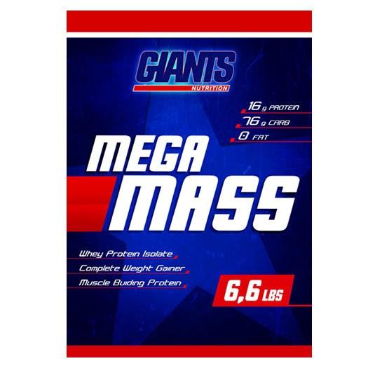 Massa Mega Mass Morango 3 Kg Giants Nutrition