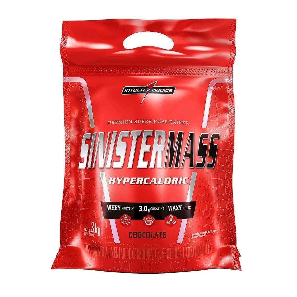 Massa Sinister Mass 3Kg Chocolate Integralmédica