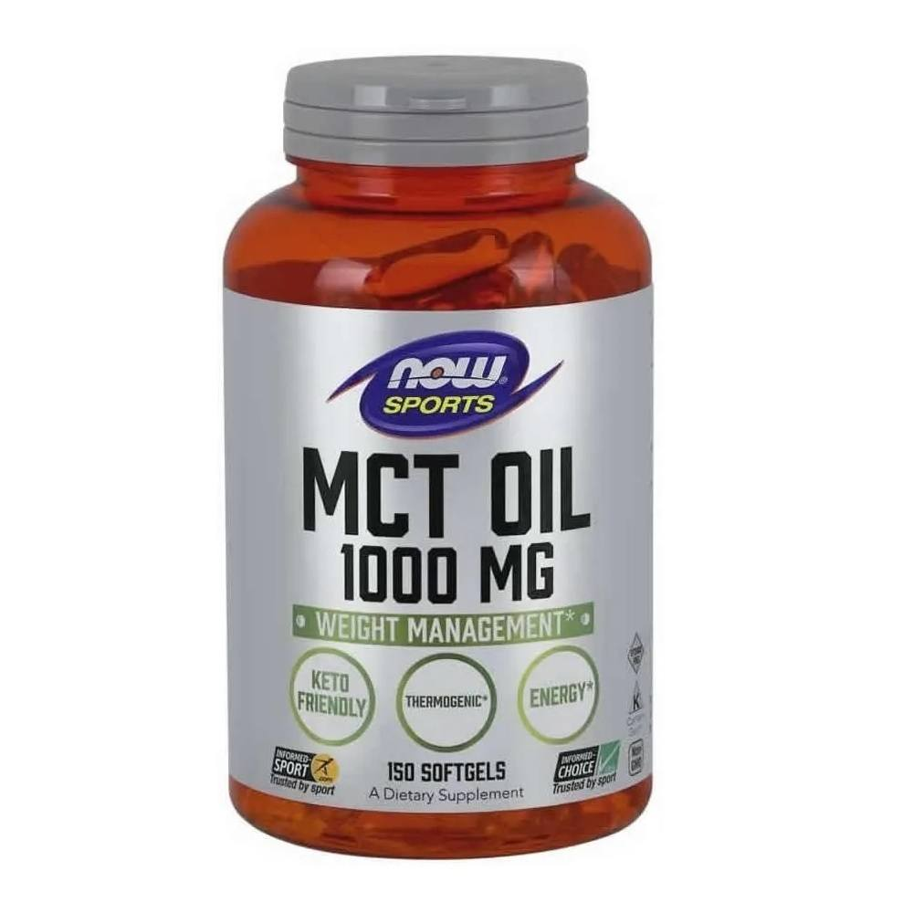 MCT Oil 1000 mg 150 Softgels Now Foods