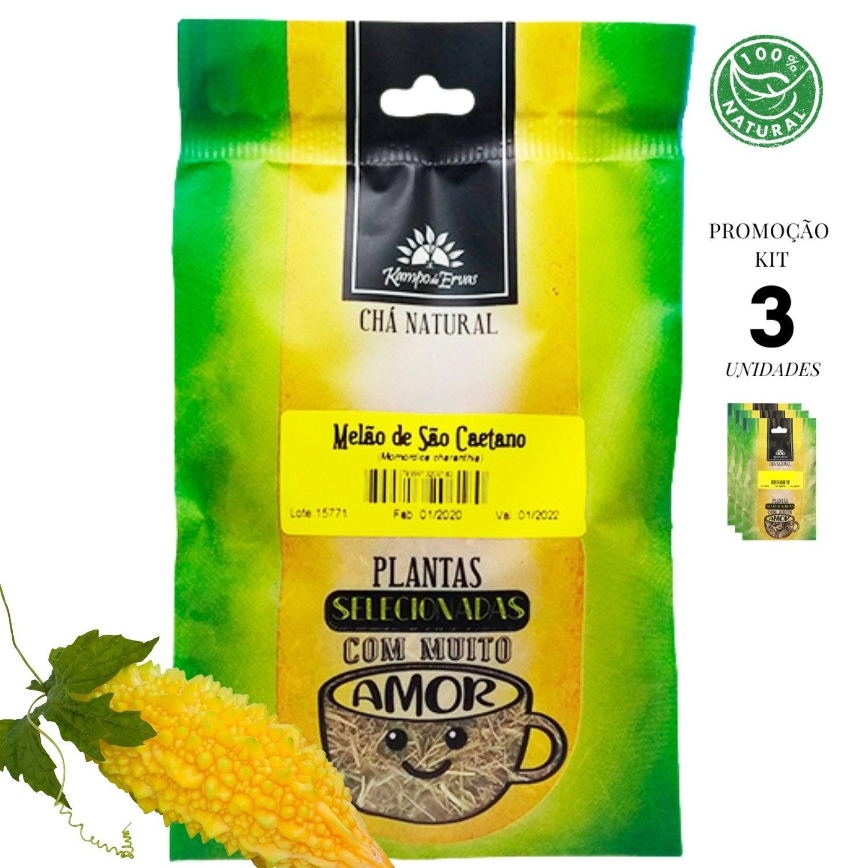 Melão de São Caetano Chá só Folhas Kampo Ervas 3und 30g cada
