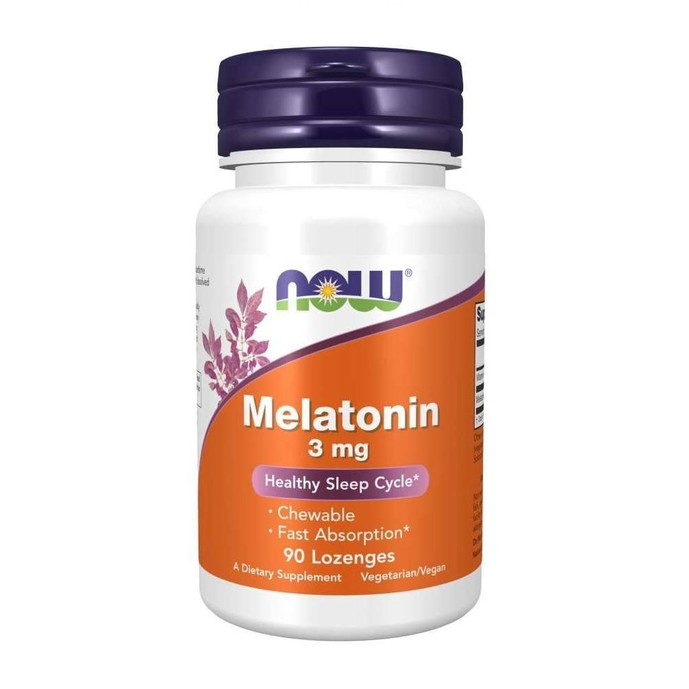 Melatonin 3 mg 90 caps Lozenges Now Foods