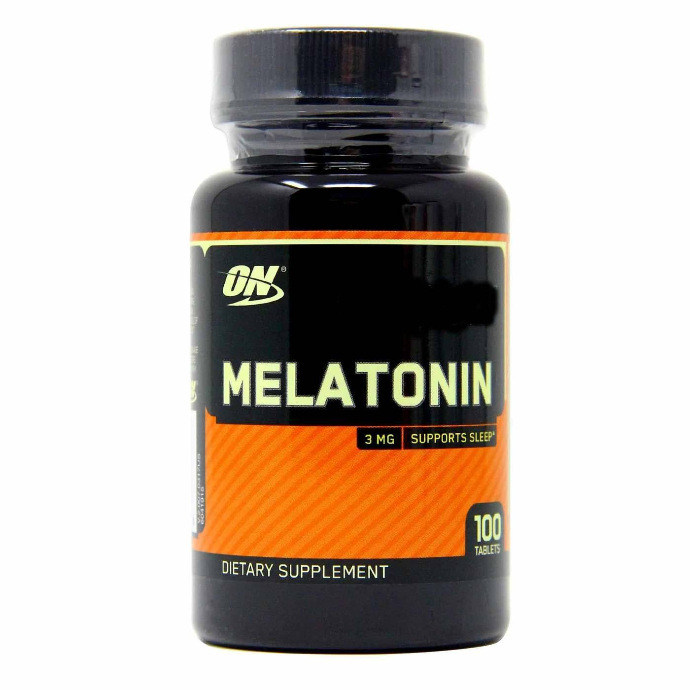 Melatonina 3mg 100 comprimidos Importado Eua  Regula insonia - Optimum Nutrition