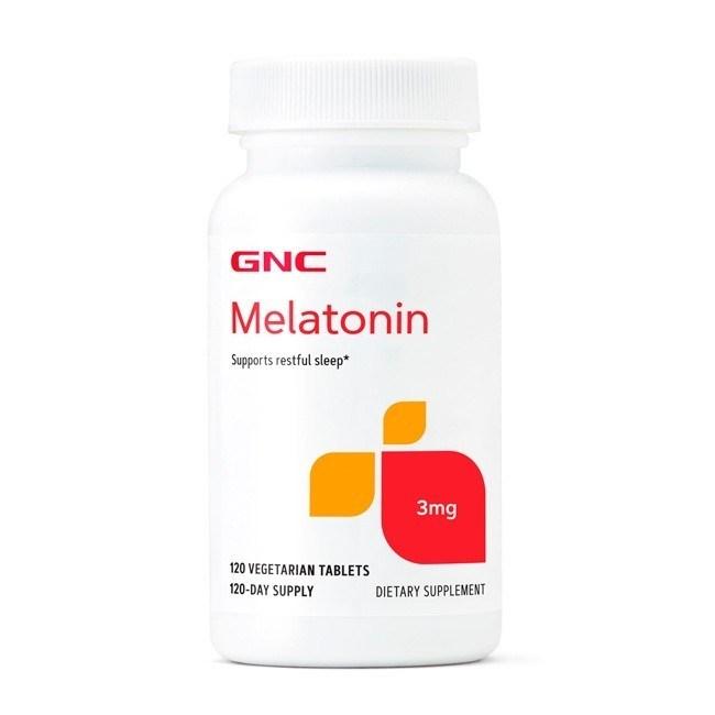 Melatonina 3mg 120 tabs – GNC para controla insonia dormir bem