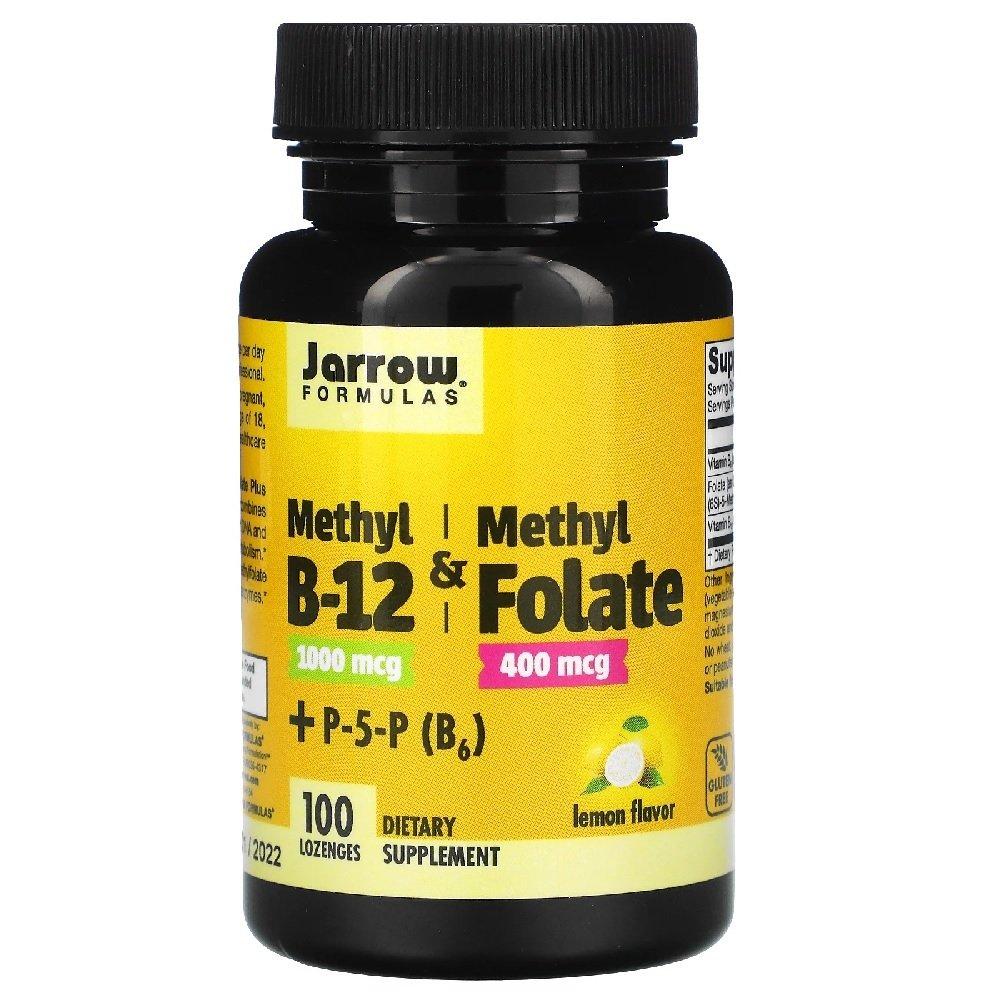 Methyl B-12 1,000 mcg e Methyl Folate 400 mcg 100 Tabletes Jarrow