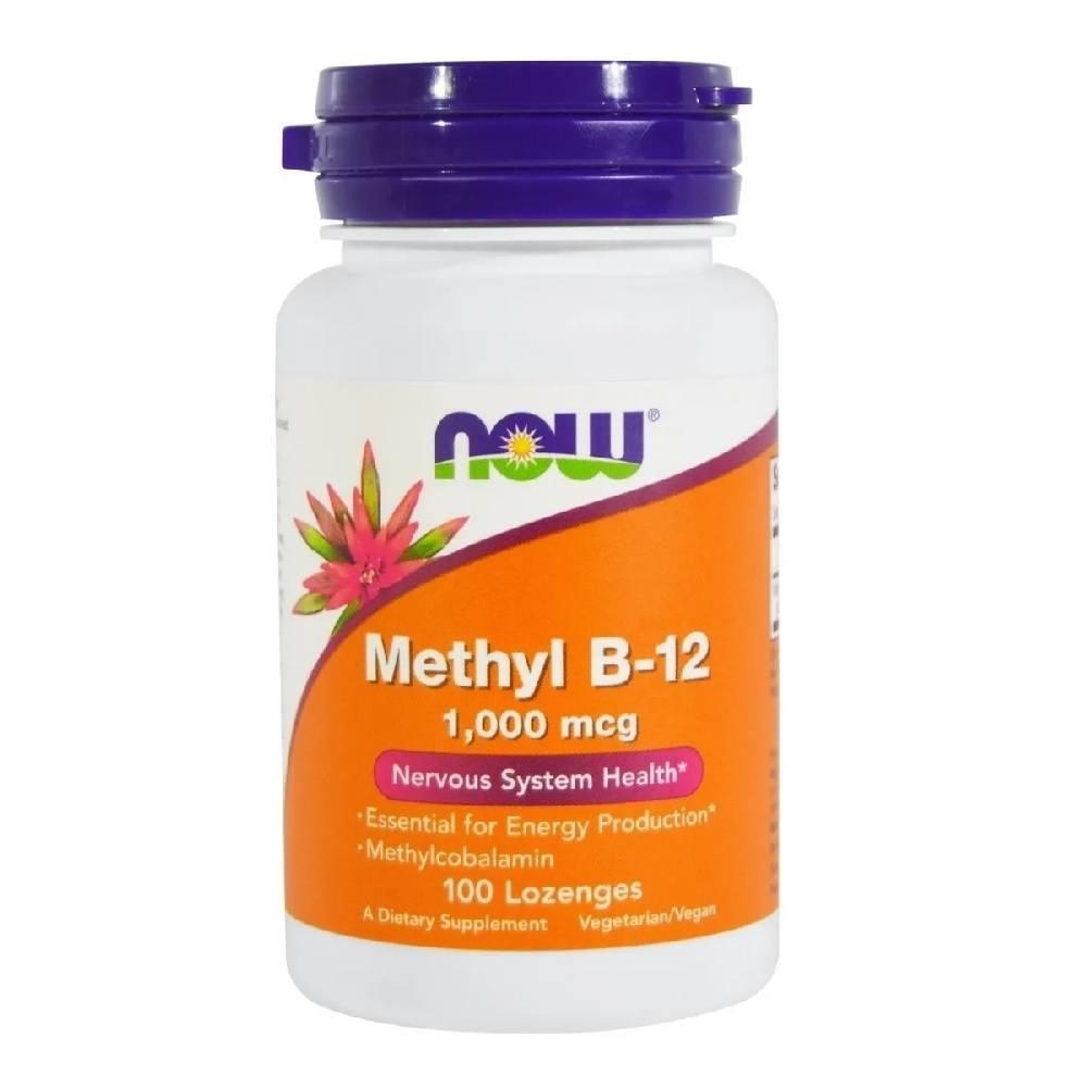 Methyl B-12 Metilcobalamina 1,000 mcg 100 Lozenges Now Foods