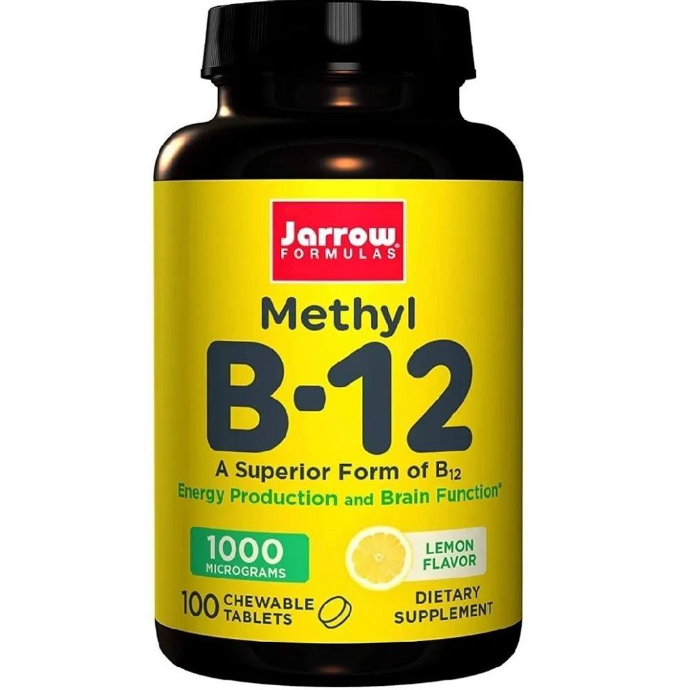 Methyl B-12 Metilcobalamina 1,000 mcg 100 Tablets Jarrow