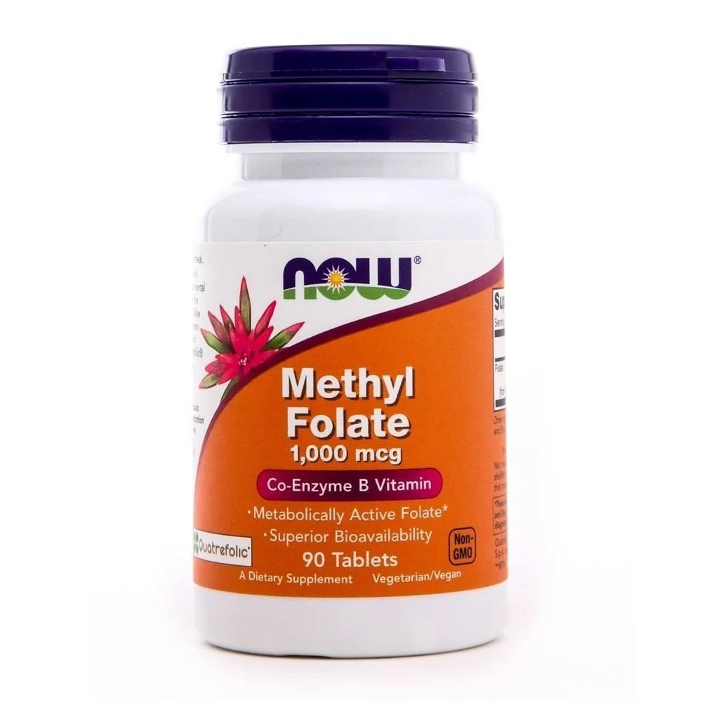 Methyl Folate 1,000 mcg 90 Tablets Now Foods