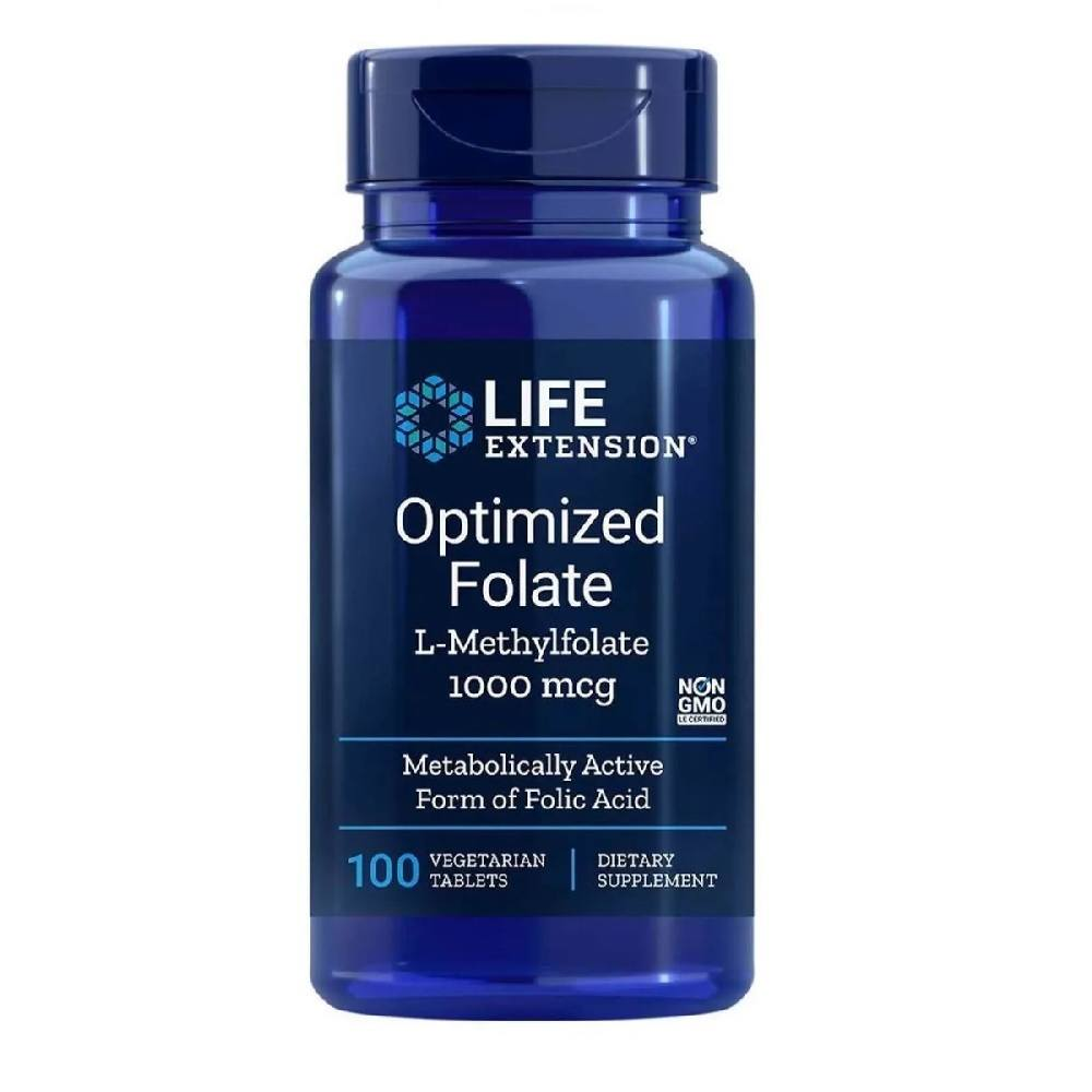 Metil Folate Optimized Folate 1.000 mcg 100 Tab. Life Extension