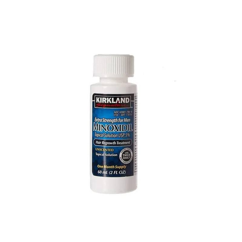 Minoxidil Kirkiland 5% 60ml Original 1 unidade Barba Cabelo Vitamina