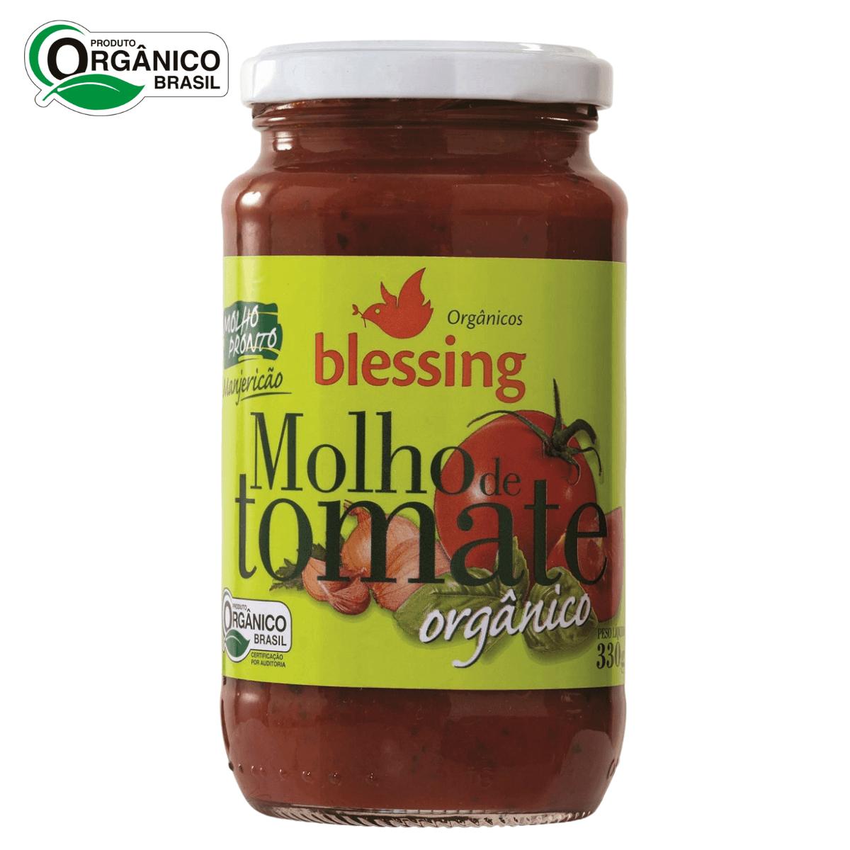 Molho de Tomate Orgânico com Manjericão Blessing 330 gramas