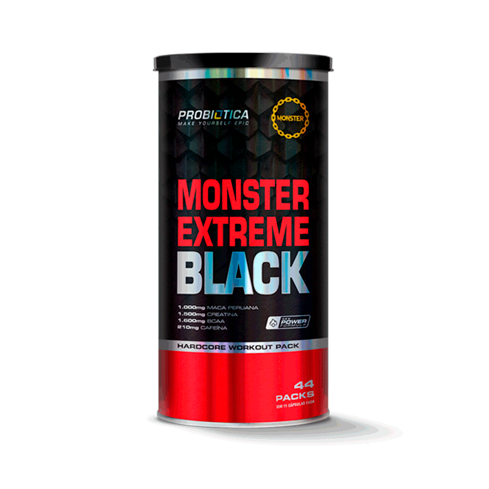 Monster Extreme Black 44 Packs New - Probiotica