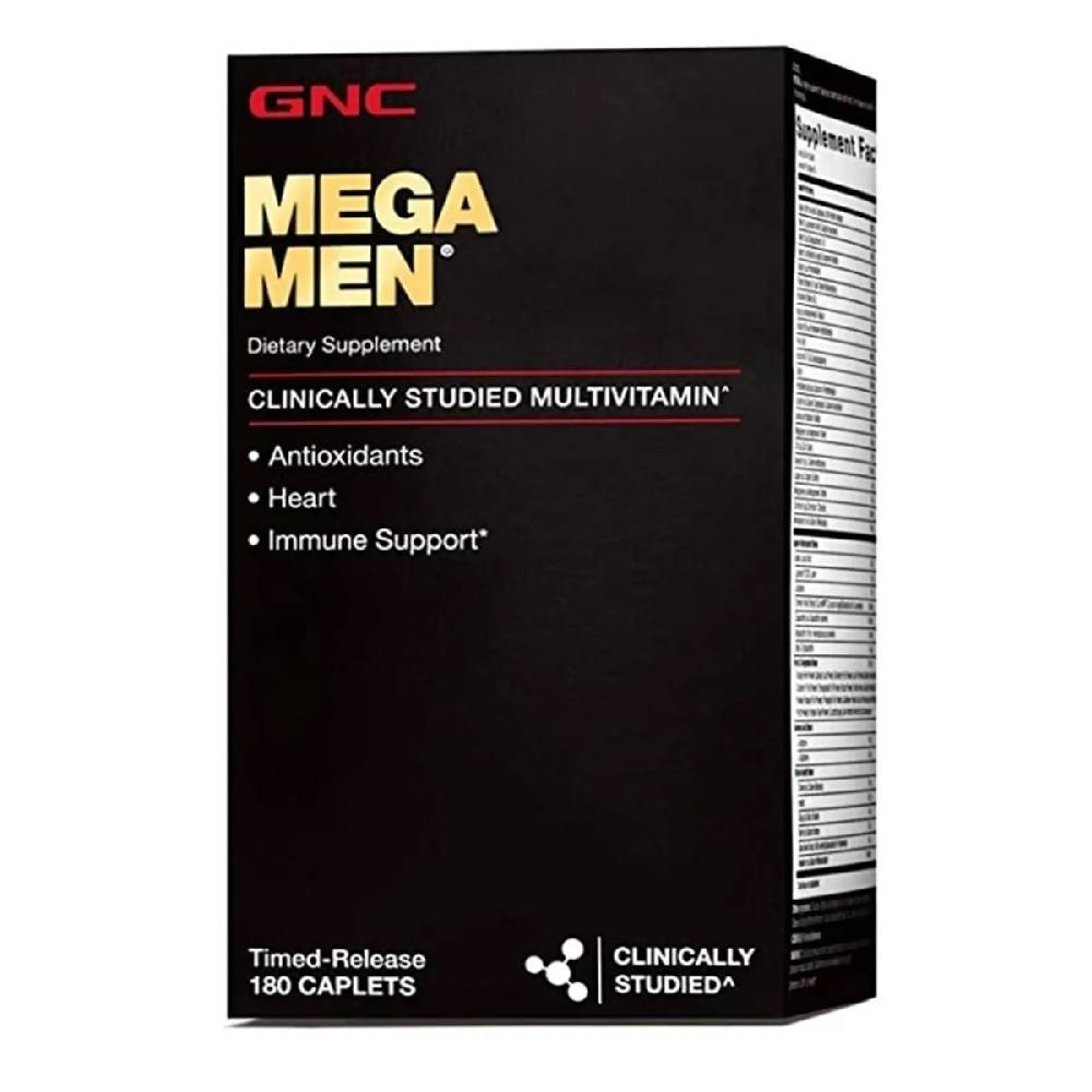 Multivitaminico Mega Men 180 Caps. GNC Importado