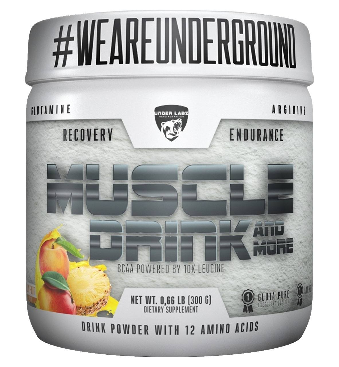 Muscle Drink 300G Yellow Fruit Flavor Under Labz