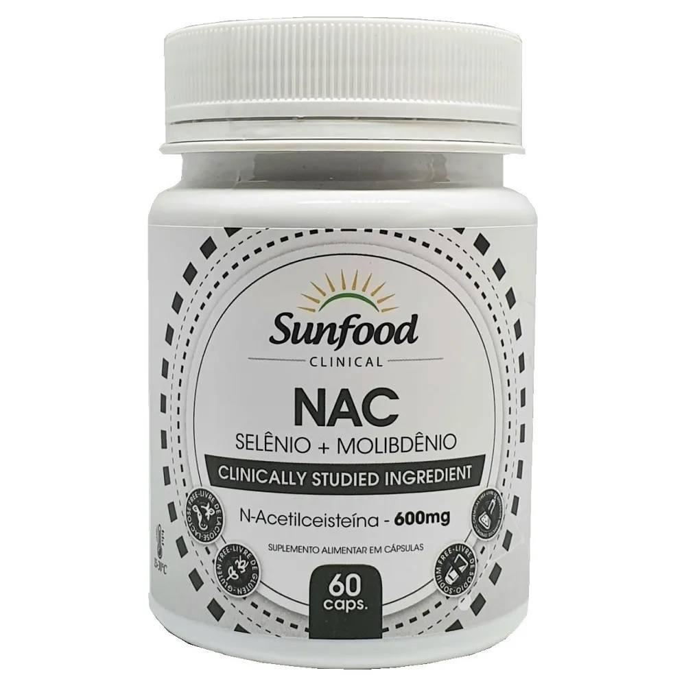 NAC  com Selênio e Molibdênio 60 Cáps. Sunfood