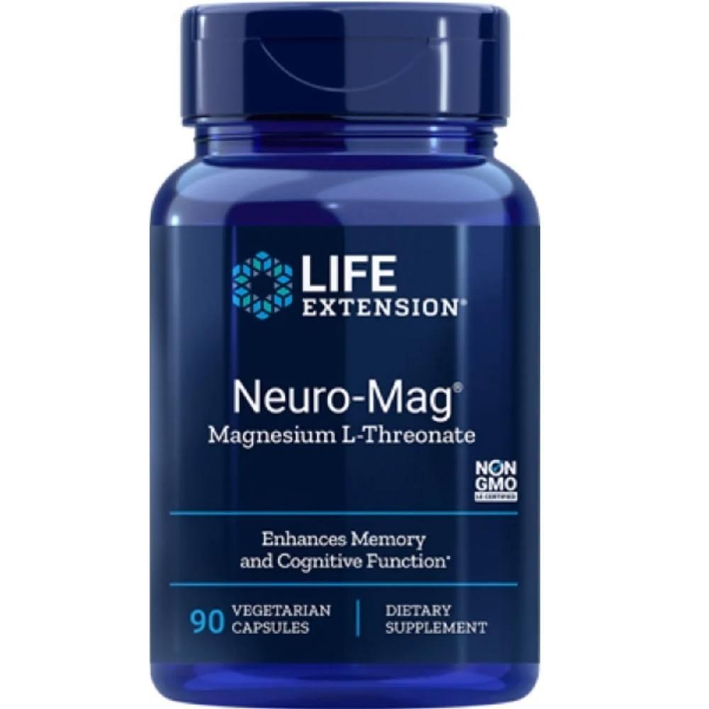 Neuro Mag Magnésio L-Treonato 90 Cáps. Life Extension
