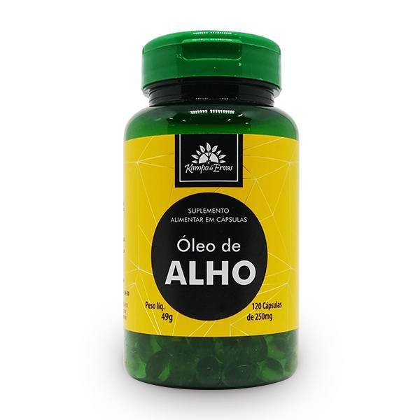 Óleo de Alho 100% Natural 120 Cápsulas de 250 mg cada