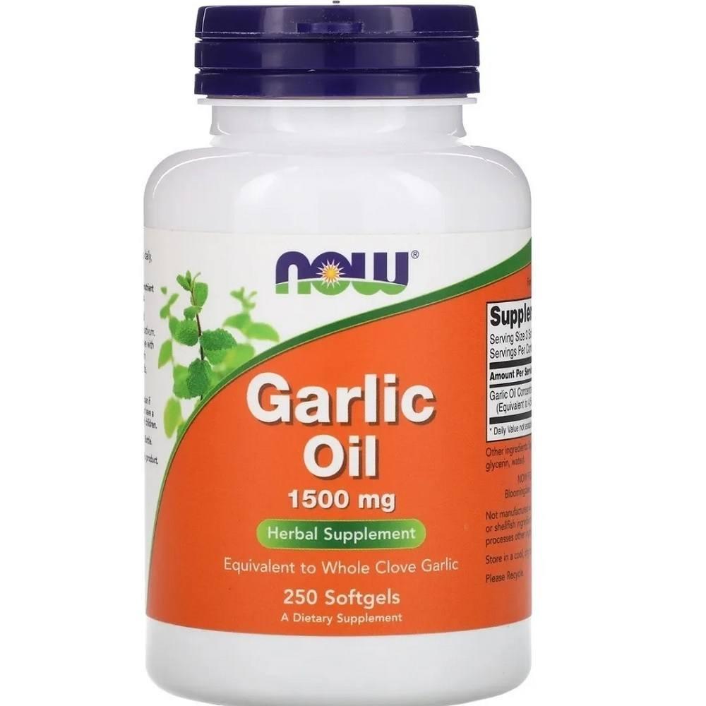 Óleo de Alho 1500 mg 250 Softgels Now Foods