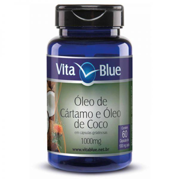 Óleo De Cartamo com Coco – 60 Caps 1000mg – Vita Blue