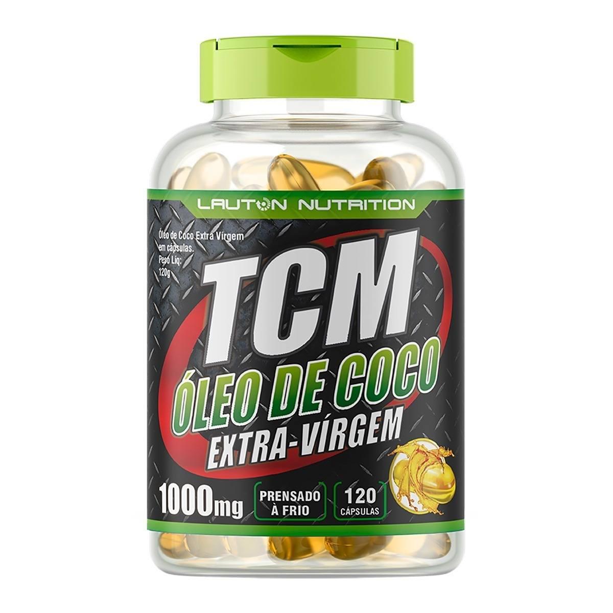 Oleo De Coco Tcm 120 Cap 1000Mg Lauton Nutrition
