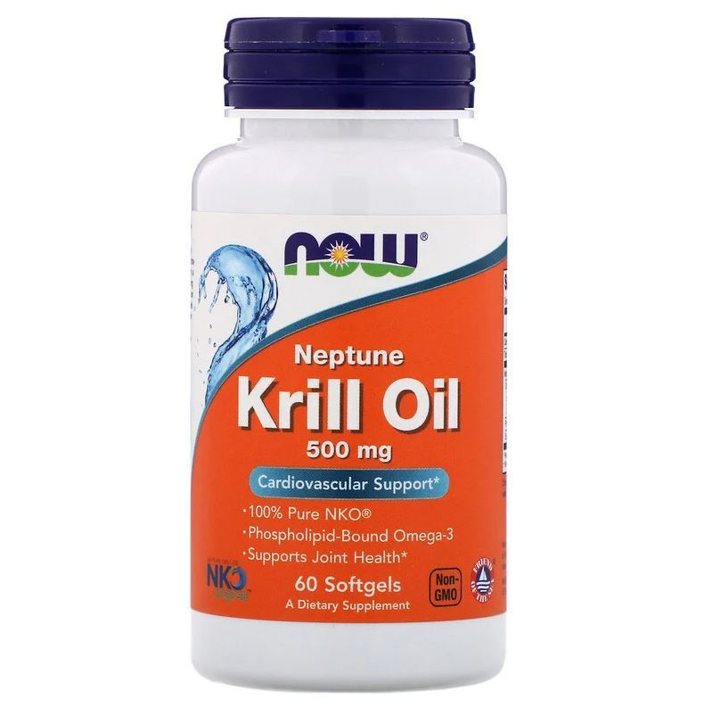 Oleo De Krill 500mg 60 Cáps Omega-3, Neptune Epa Dha Importado Now Foods