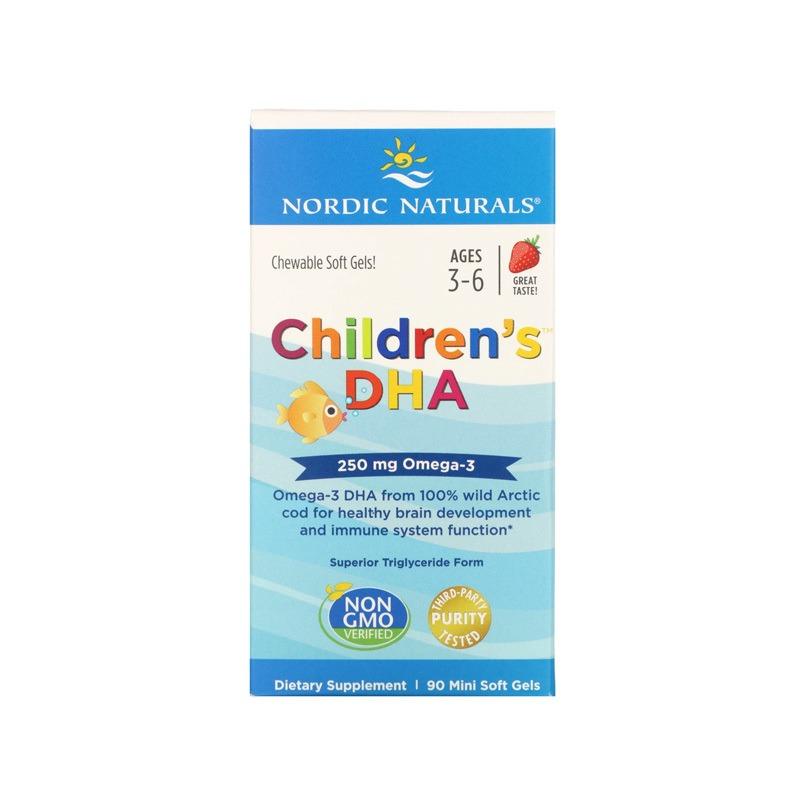 Omega 3 Dha Infantil Nordic Naturals 250 Mg 90 softgels Importado Eua 3 a 6 anos