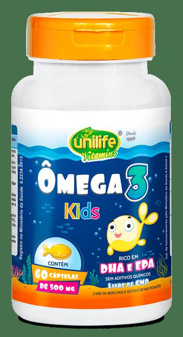 Ômega 3 Kids 60 cápsulas Unilife
