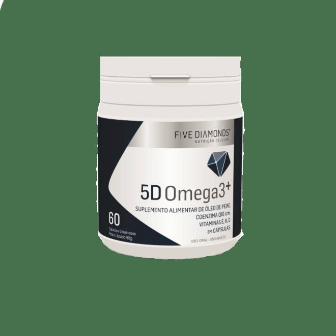 Ômega 3 Premium + Coenzima Q10 + Vitaminas E, D E K 60 Cáps