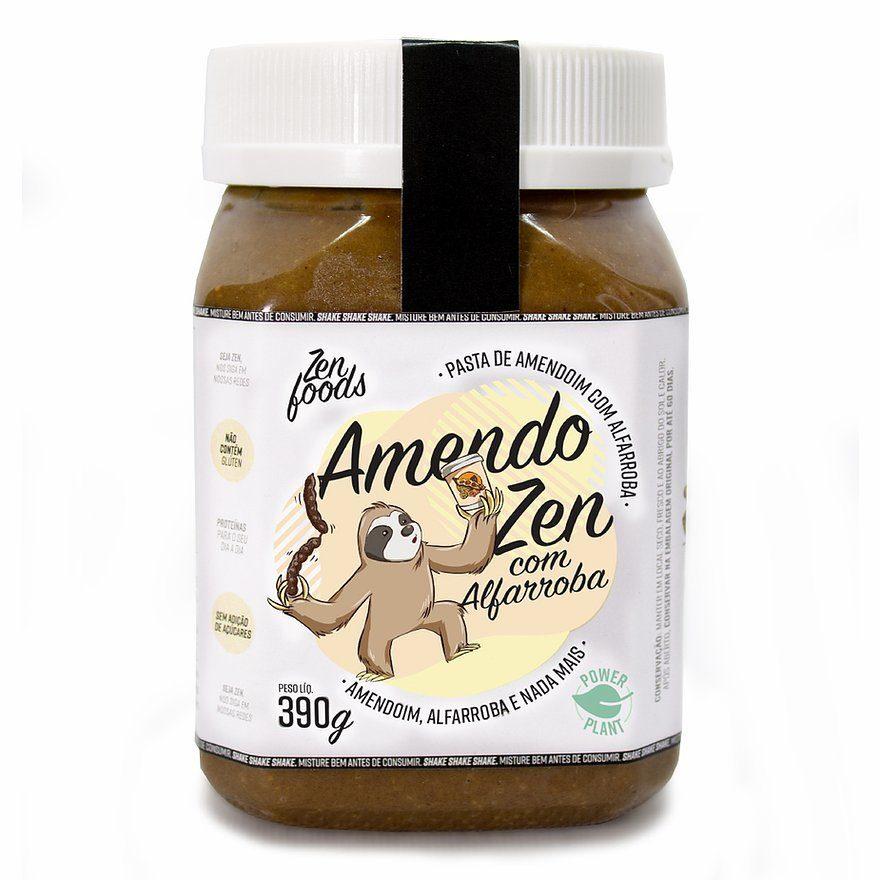 Pasta Amendoim Alfarroba Zenfoods 390g