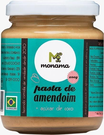 Pasta De Amendoim + Açúcar De Coco 200g - Monama