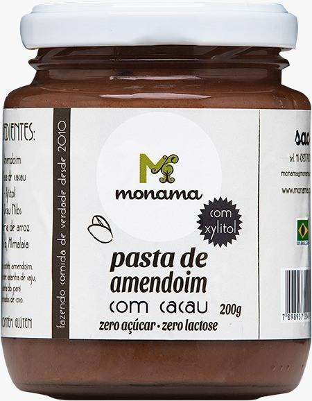 Pasta De Amendoim Com Cacau E Xylitol 200g - Monama