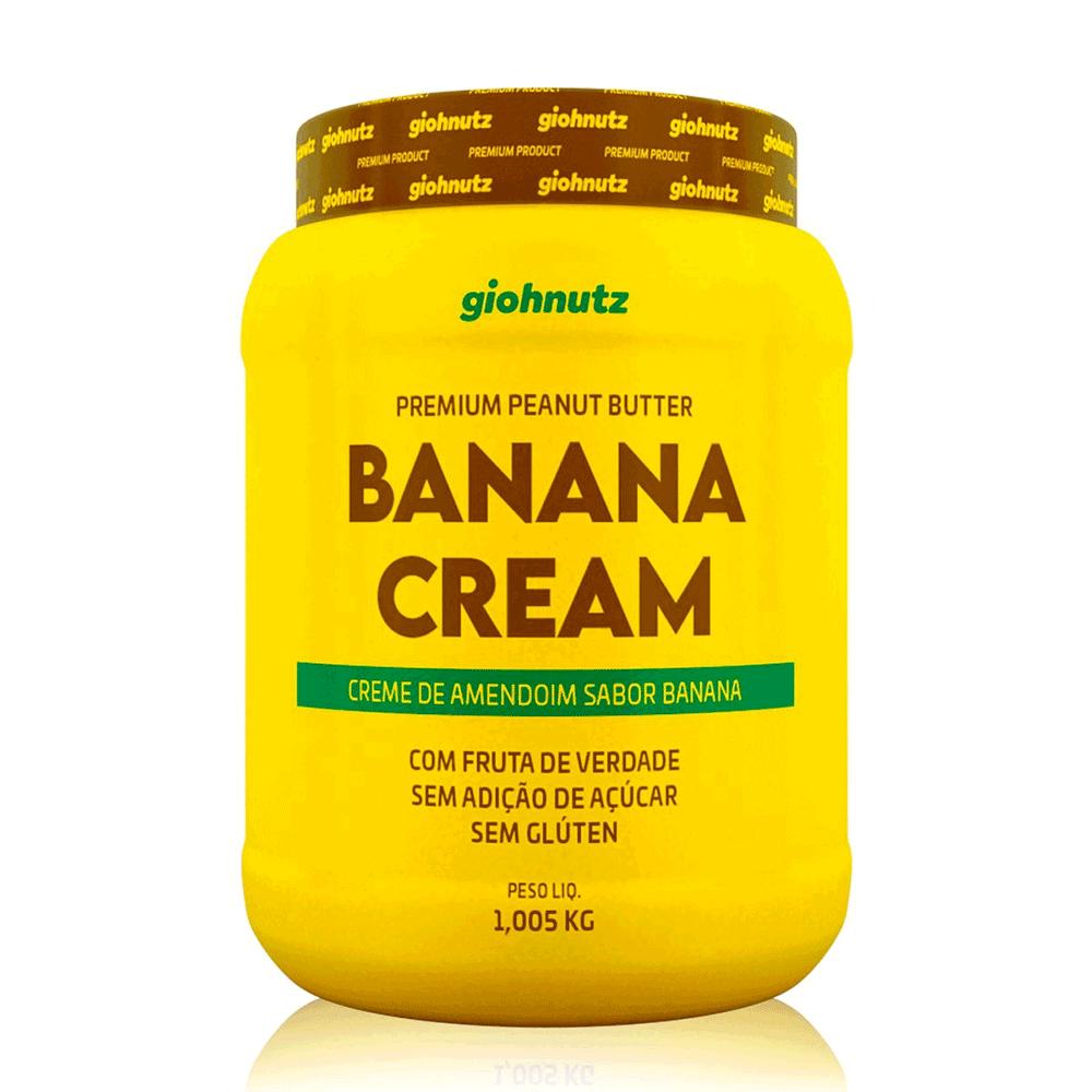Pasta de Amendoim Sabores - Banana Cream 1005g Giohnutz