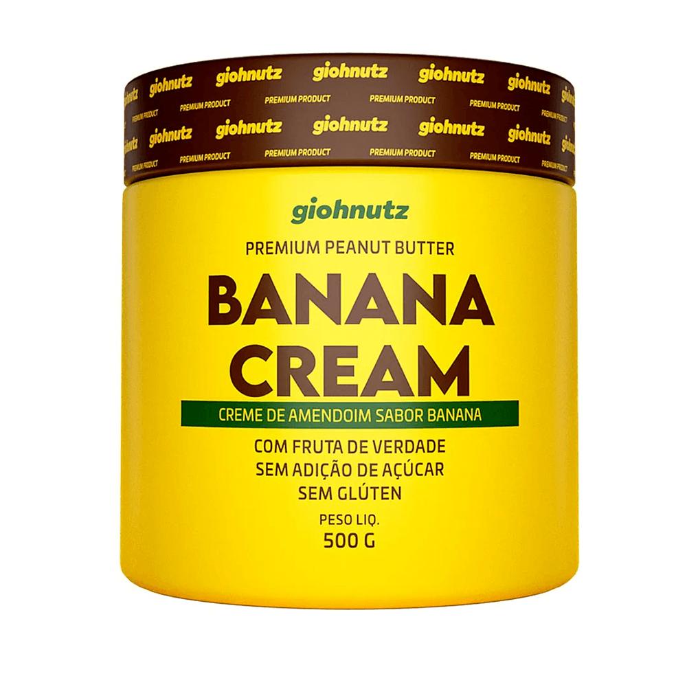 Pasta de Amendoim Sabores - Banana Cream 500g Giohnutz