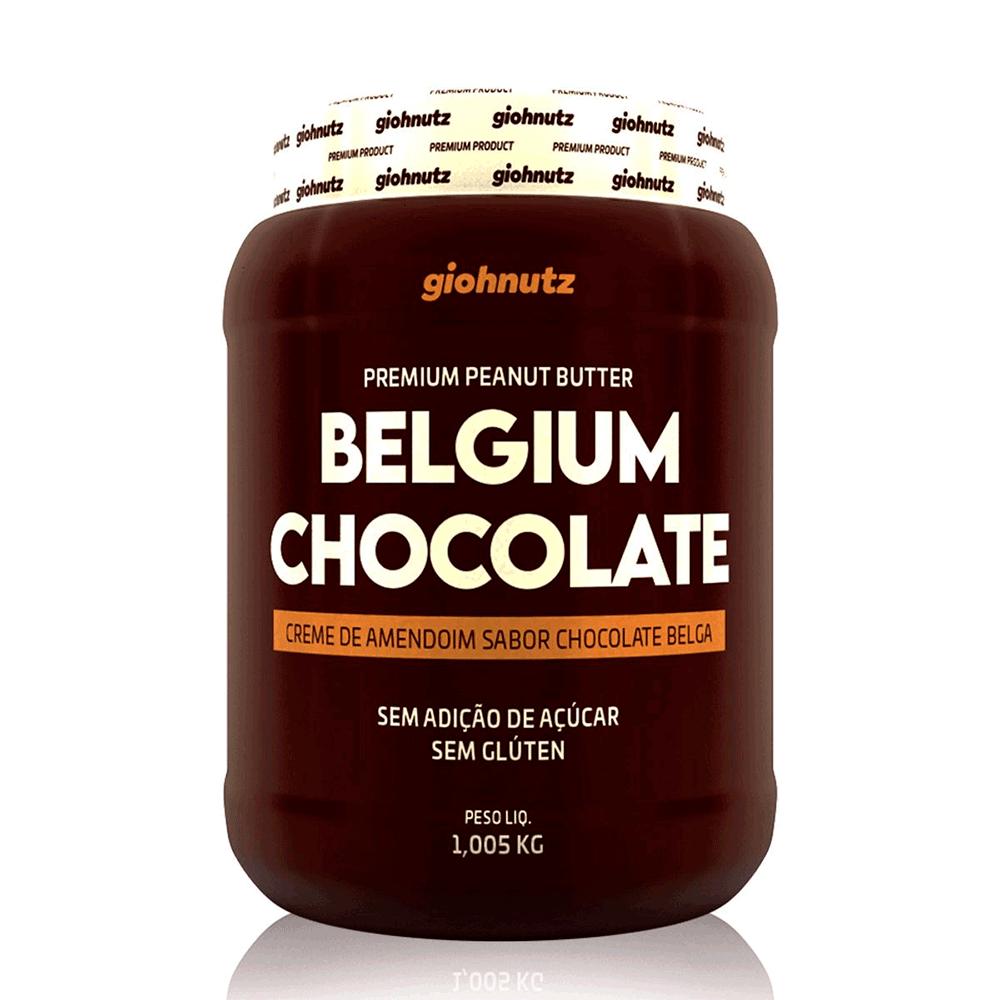 Pasta de Amendoim Sabores - Chocolate Belga 1005g Giohnutz