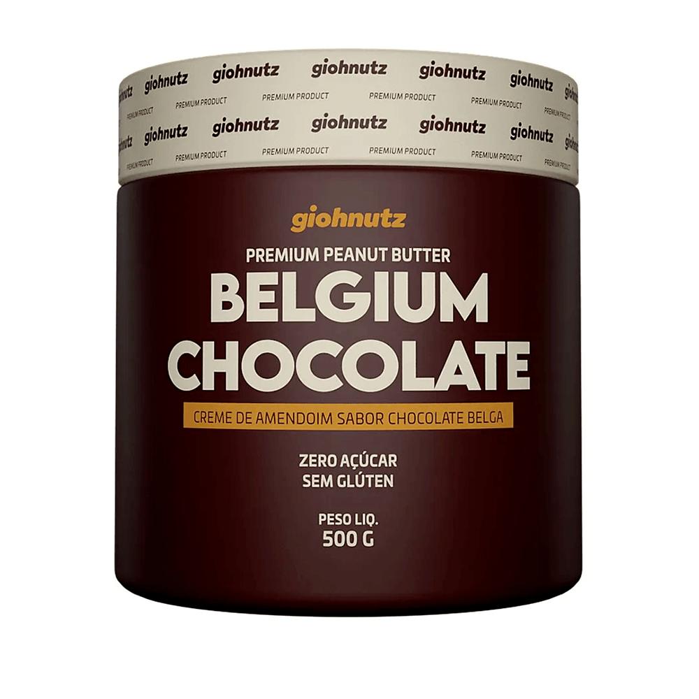 Pasta de Amendoim Sabores - Chocolate Belga 500g Giohnutz