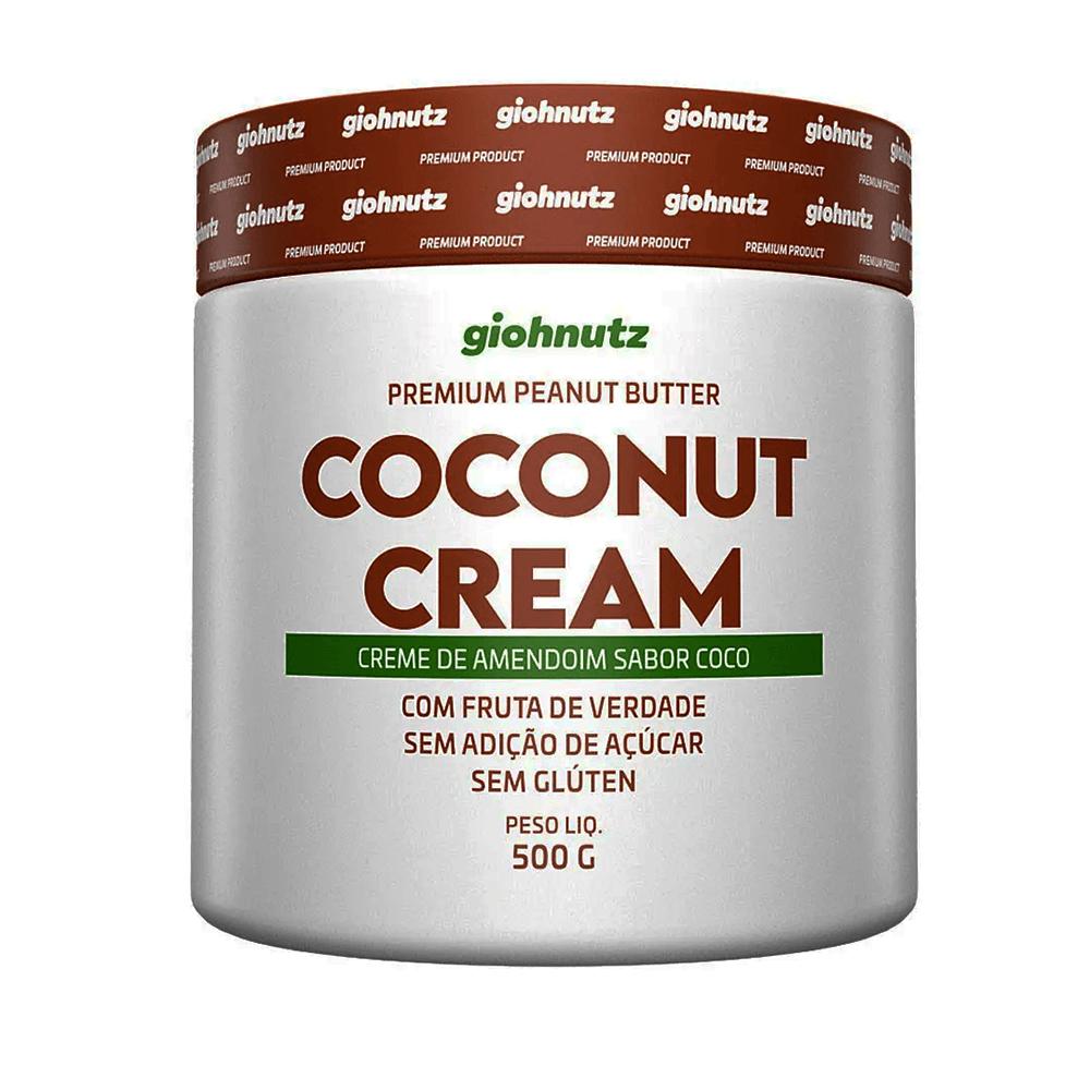 Pasta de Amendoim Sabores - Coconut Cream 500g Giohnutz