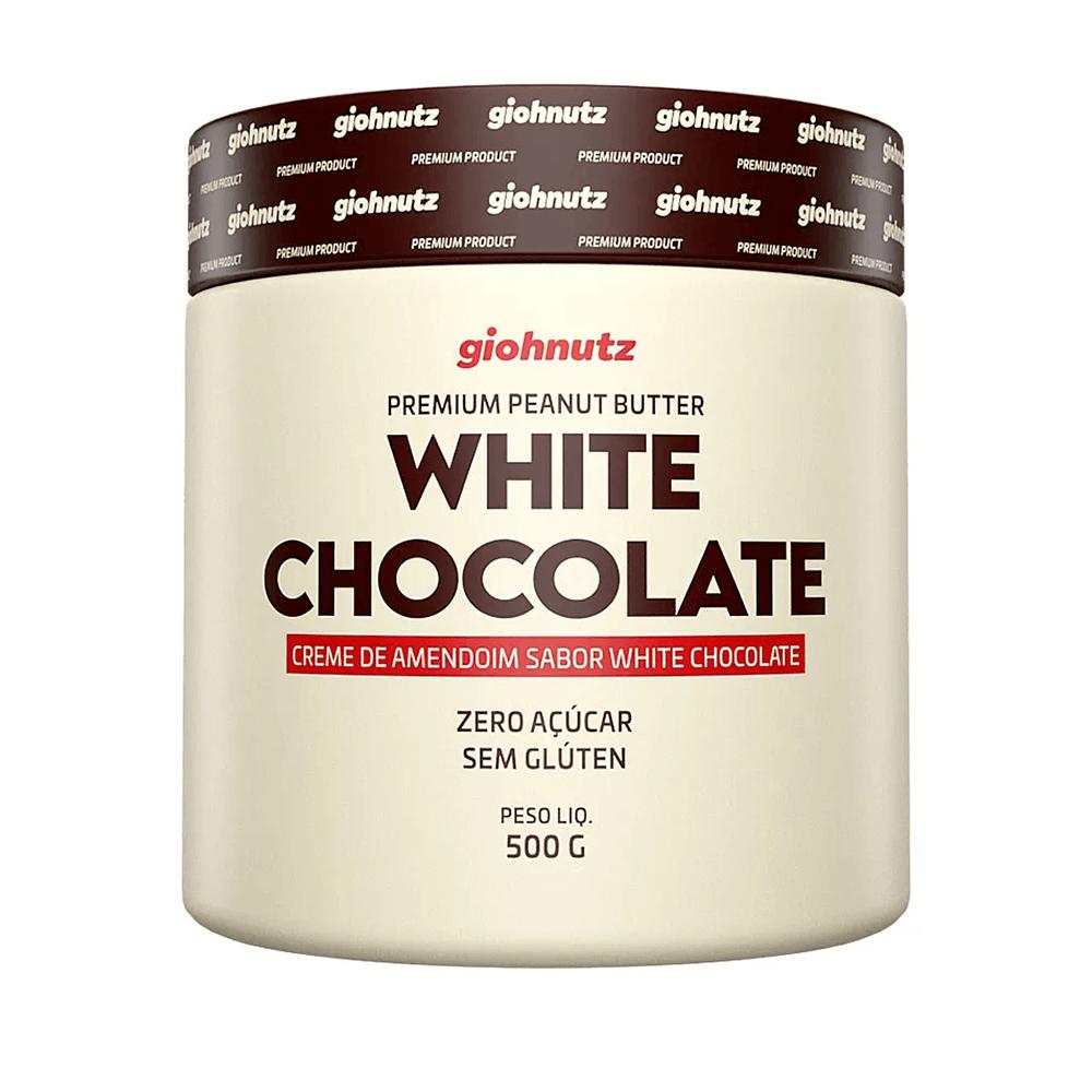 Pasta de Amendoim Sabores - White Chocolate 500g Giohnutz